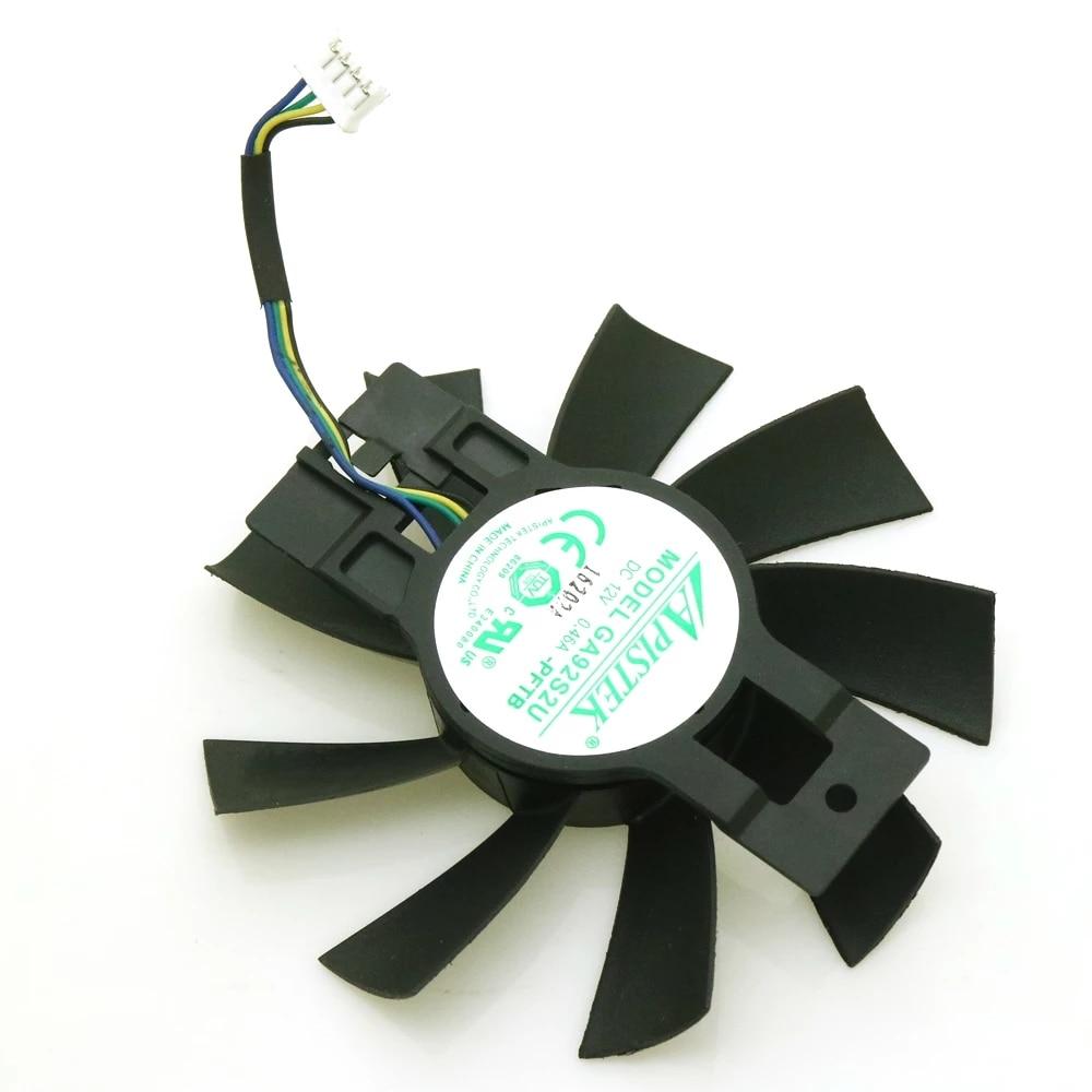 Ga92b2u, ga92s2u-pftb 12v 0.46a 4pin 87mm ventilador vga para dataland rx570 x-serial placa gráfica cooler ventilador de refrigeração