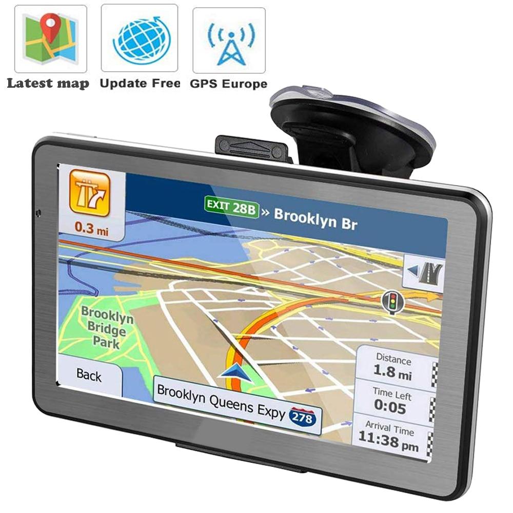GPS навигатор, автомобильный навигатор 5 дюймов, ЖК-экран, FM, спутниковый, голосовой, грузовой навигатор, евро, lincoln navigutorpe, последняя карта