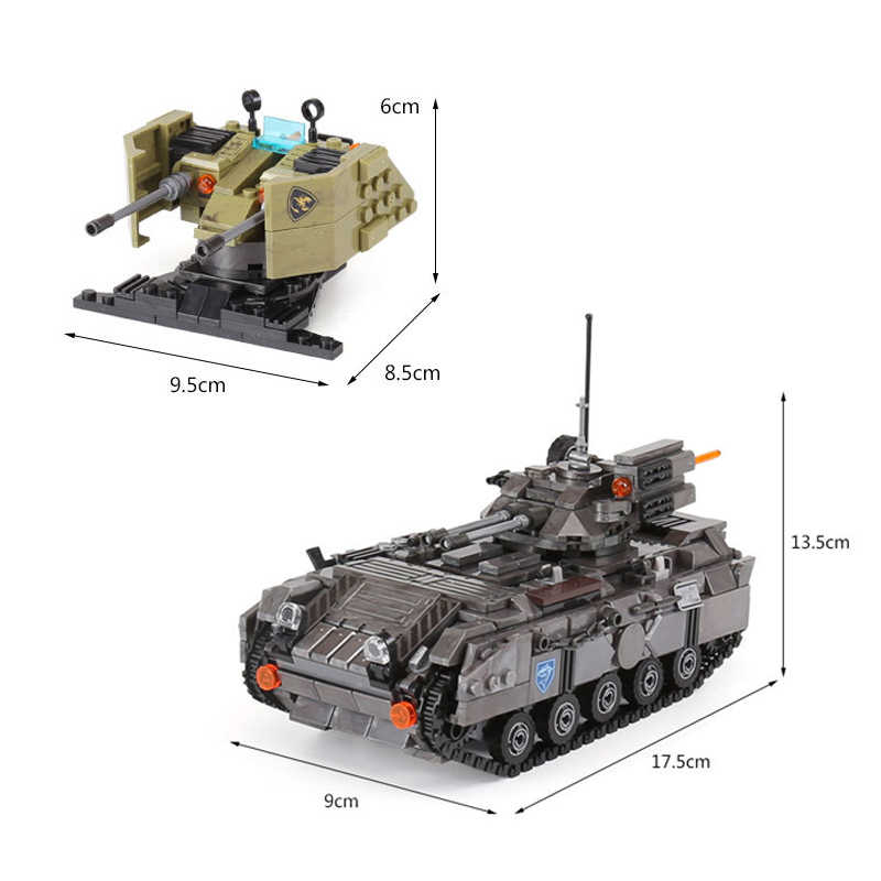 Army Series Tank Track Armoured Cehicle vehicle compatible LegoINGlys Military Tank Building Blocks Bricks Toy For Children Gift