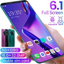 6.1 Inch Smartphone For A Mate33 Pro Big Screen Android 9.1 Smartphone Display 10Cores 4500 Mah 8GB+128GB Hd Camera Mobiele Te