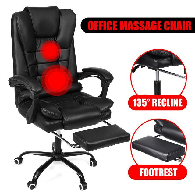 Computer Massage Chair With Footrest  6