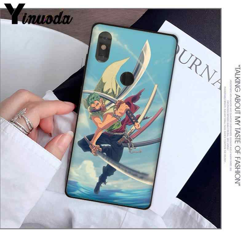 Yinuoda One Piece Roronoa Zoro DIY Printing Drawing Phone Case  for XiaoMi MI 6 plus A2 8 LITE 8 8SE 9 9SE MIX2 Cellphones