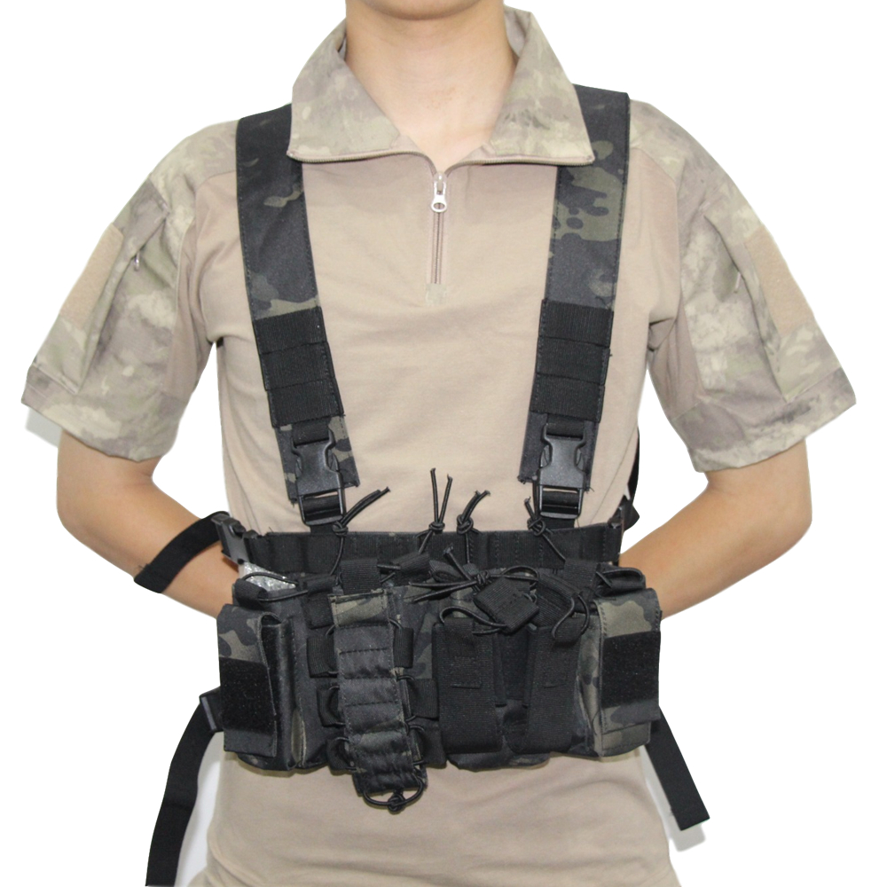 Outdoor Military Tactical Vest Army Chest Rig Airsoft Molle CS Shoulder Strap