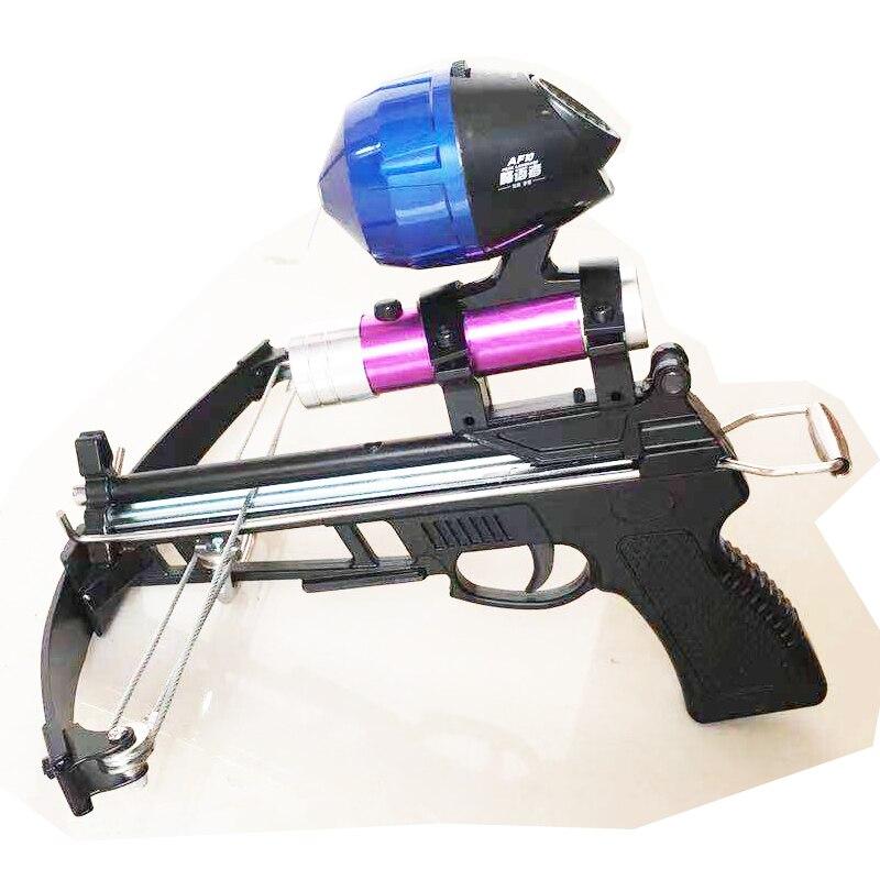 Slingshot Jacht Boog Krachtige Katapult Ondersteuning Vissen Reel Multifunctionele Steel Ball Ammo Pijl Schieten Sightscope Kruisboog