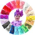 20 farben Baby Mädchen Stirnbänder 4,5 Zoll Haar Bögen Weiche Breiten Nylon Stirnbänder für Neugeborene Infant Kleinkind Fotografische Zubehör