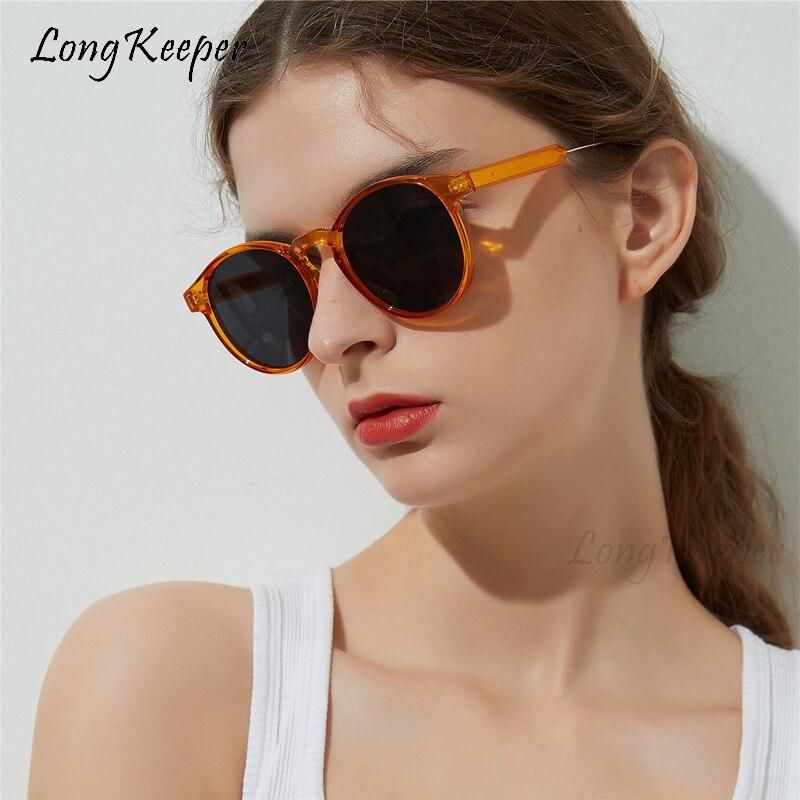 2020 Brand Designer Round Sunglasses Women Trending Products Unisex Oculos de sol feminino Leopard Transparent Circle Glasses