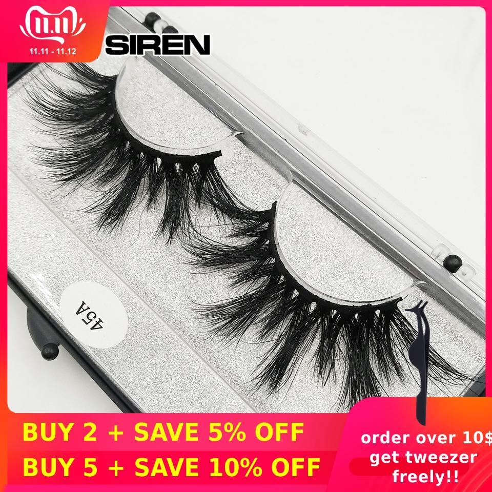 RED SIREN 3d Mink Lashes Handmade 25 Mm Mink Eyelashes Dramatic Long Soft Eye Lashes Maquillaje Wholesale Fake Eyelashes 45A