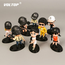 8pcs PUBG Car Ornaments Pendant Decoration Accessories Soldier Military Model 98K Eating Chicken Game Cool Doll Toy
