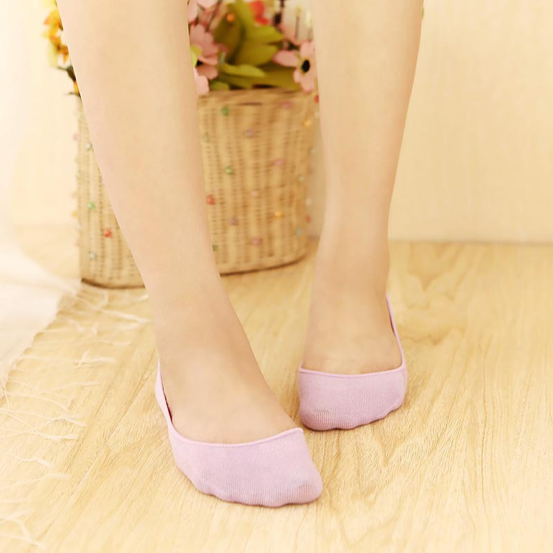Orders Exported To Japan Cotton Hidden Socks Candy Color WOMEN'S Short Socks Anti-off With Socks Invisible Ankle Sock Closeout P