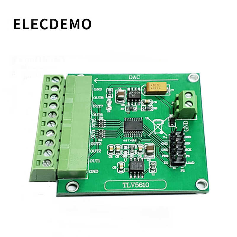 TLV5610 Module Octaal Seriële DAC Module TLV5610/TLV5608/TLV5629 Digitaal naar Analoog Conversie Functie demo Board