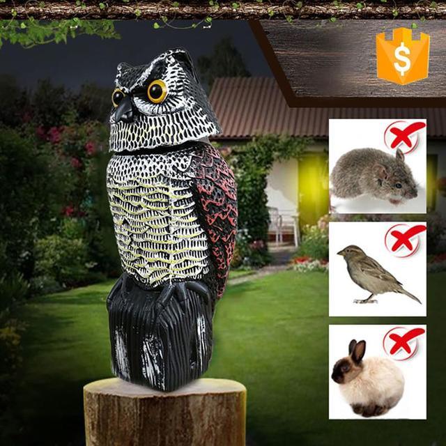Repelente de aves de búho, espantapájaros reflectantes para colgar, repelente de aves y palomas, Control de plagas, espantapájaros, patio de jardín