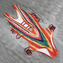 Bandaż stylowe stroje kąpielowe damskie jednoczęściowy wyściełany seksowny druk wakacyjny strój kąpielowy strąckąpielowy jednoczęściowy #33 6