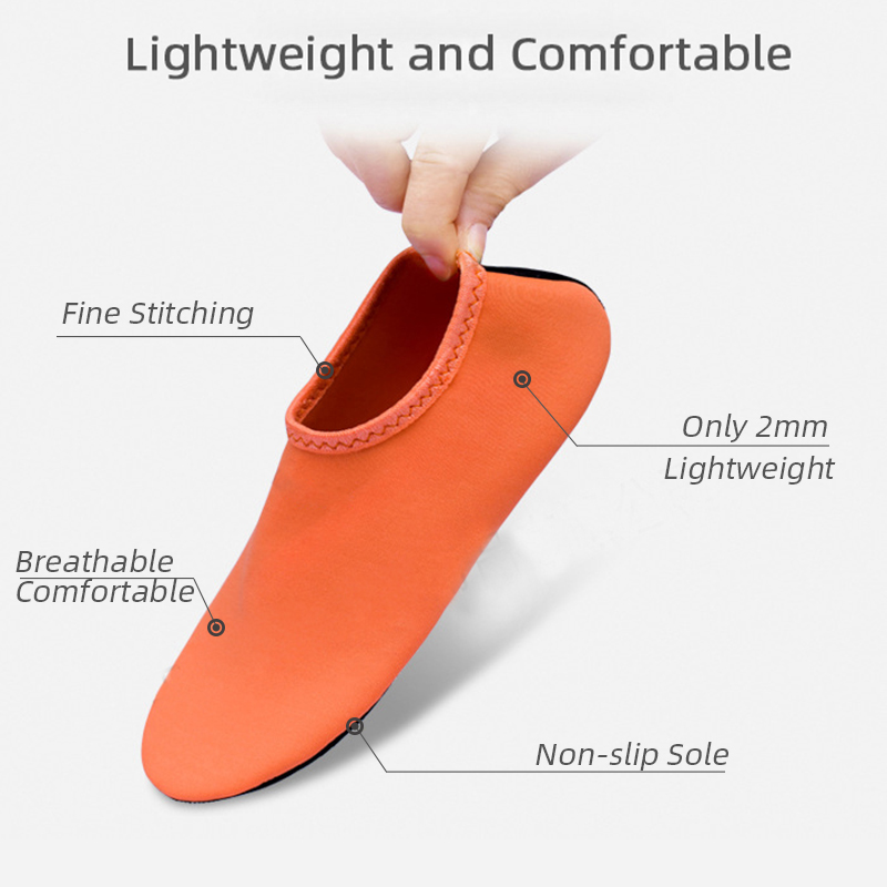 Outdoor Unisex Beach Sandals Diving Snorkeling Shoes Soft Slides Flats Non-Slip Shoes Slippers Swimming Water Breathable Shoes 1