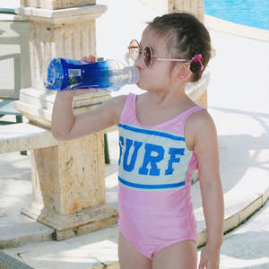 Girl'S New Style One-piece Swimming Suit Little Princess Baby Triangle Girls Holiday Hot Springs Bow Swimwear