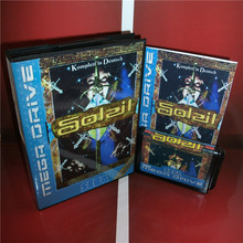 Soleil (No Save Function) EU Cover with Box and Manual For Sega Megadrive Genesis Video Game Console 16 bit MD card