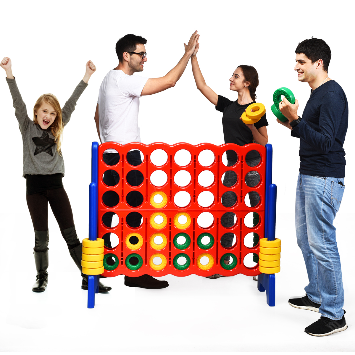 Jumbo 4-to-Score 4 In A Row Giant Game Set Kids Adults Family Fun Indoor Garden
