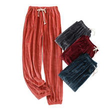 Home-Trousers Velvet Sleep-Bottoms Keep-Warm-Pants Flannel Women New Winter And Thicken