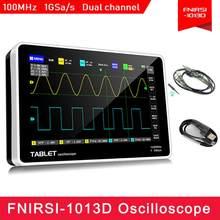 Osciloscópio digital 1013D 2 canais, largura de banda 100MHz, taxa de amostragem 1gsa/s, USB, com tela de LCD TFT a cores sensível ao toque