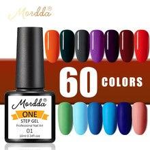 MORDDA УФ Гель-лак для ногтей, Лаки для маникюрных инструментов Цветной Гель-лак для ногтей для дизайна ногтей 10 мл одношаговый гель для покрас...