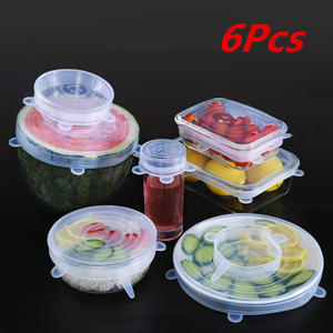 Kitchen-Cover-Case Refrigerator Food-Storage-Lids Container-Sizes Silicone Reusable