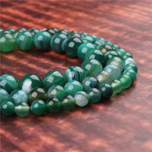 Fashion jewelry 4/6/8/10/12mm Green Striped Agate, suitable for making jewelry DIY bracelet necklace