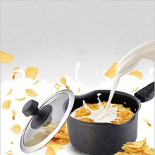 Baby Food Supplement Small Milk Pot Thickening Iron 16cm Hot Cooking Noodles Cast Non-stick