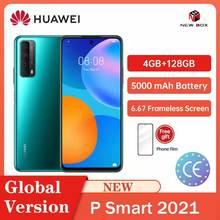 Huawei P Thông Minh 2021 4GB 128GB 48MP Quad Camera 5000 MAh Pin 6.67 Khung Màn Hình Carregamento Rápido Làm celular Celular