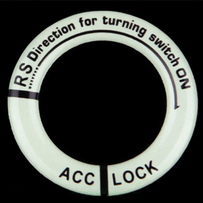 1 Pcs รถจัดแต่งทรงผม Luminous Key แหวนตกแต่งรถสติกเกอร์ Luminous IGNITION SWITCH สติกเกอร์อุปกรณ์ตกแต่งภายในอัตโนมัติ