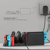 IPega PG-9187-estación de carga vertical 6 en 1 para Nintendo Switch, Mando de consola de juegos profesional