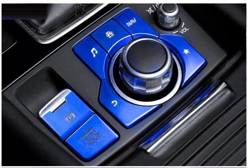 Новинка, алюминиевый электронный стояночный тормоз, автоматическая крышка для стояночных кнопок для Mazda 3 AXELA MAZDA 6 ATENZA CX-4, автостайлинг