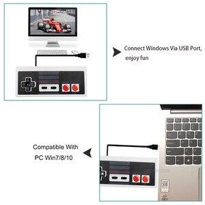 Image 5 - Controlador con cable USB para NES, Mando Retro Para PC/USB/NES, control de Joystick Manette