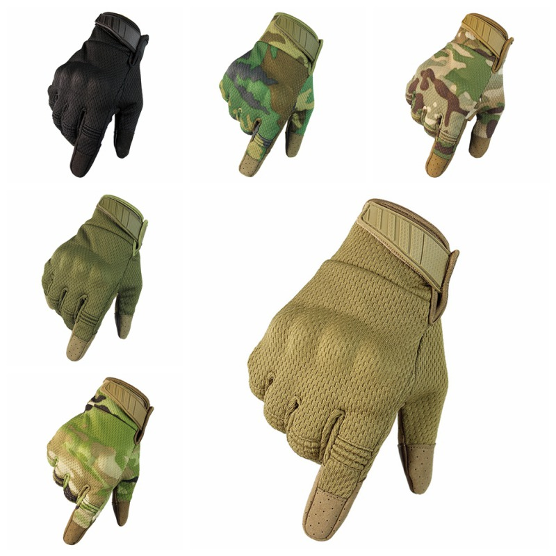 Motorcycle Cycling Climbing Anti-skid Men Gloves Touch Screen Tactical Breathable Full Fingers Gloves Outdoor