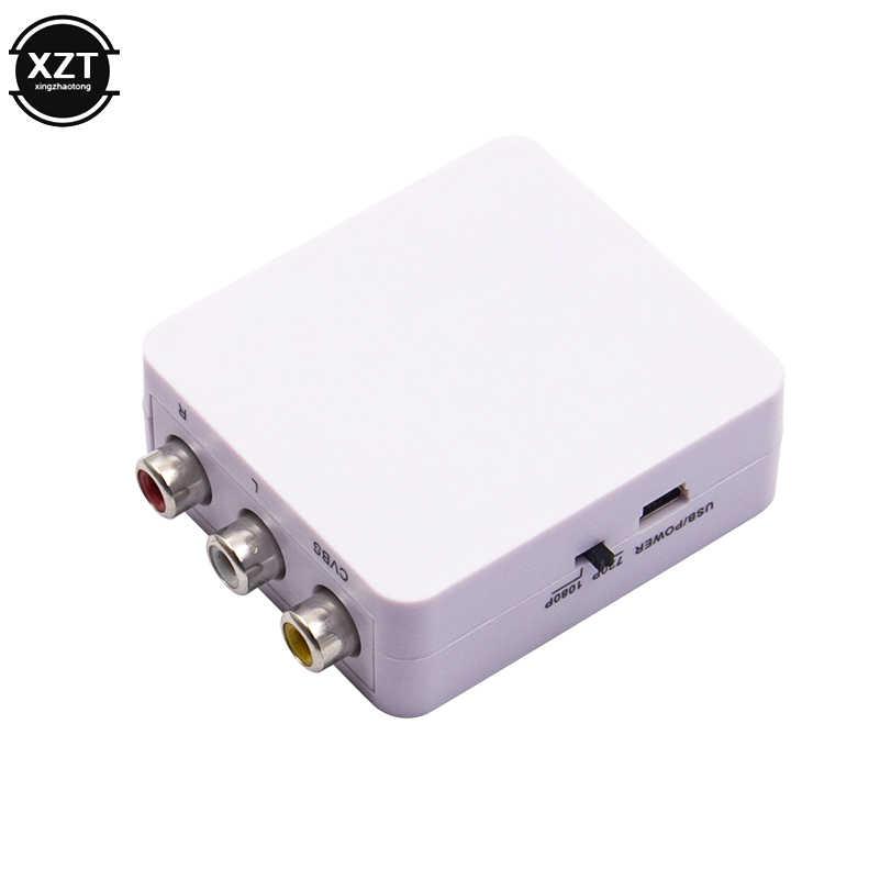 جهاز عرض صغير AV2HDMI RCA AV HDMI CVBS إلى HDMI محول صندوق AV إلى HDMI محول فيديو لـ HDTV TV PC DVD Xbox