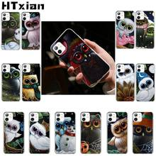 HTXian Owl Transparent Soft Shell Phone Cover for iPhone 11 pro XS MAX 8 7 6 6S Plus X 5 5S SE XR cover(China)