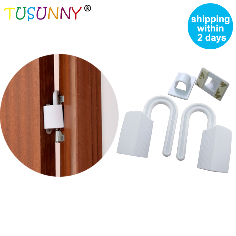 TUSUNNY 2 Pcs/lPortable Kids &Pets Safety Door Guard Door Stopper Baby Safety Gate Stopper Children Care Safety