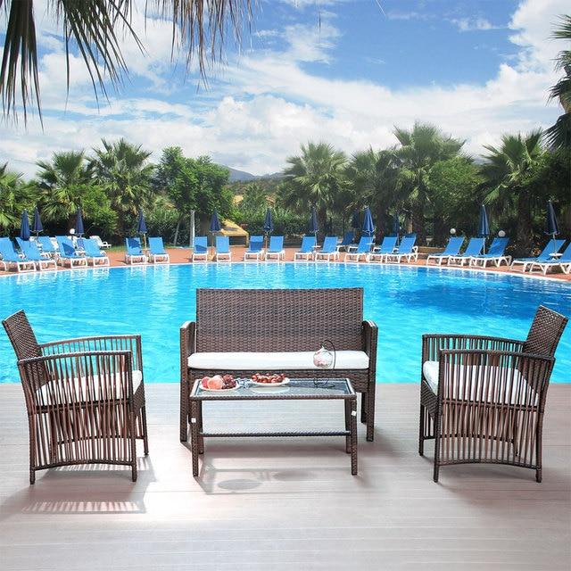 4PCS Outdoor Poolside Patio Set 3