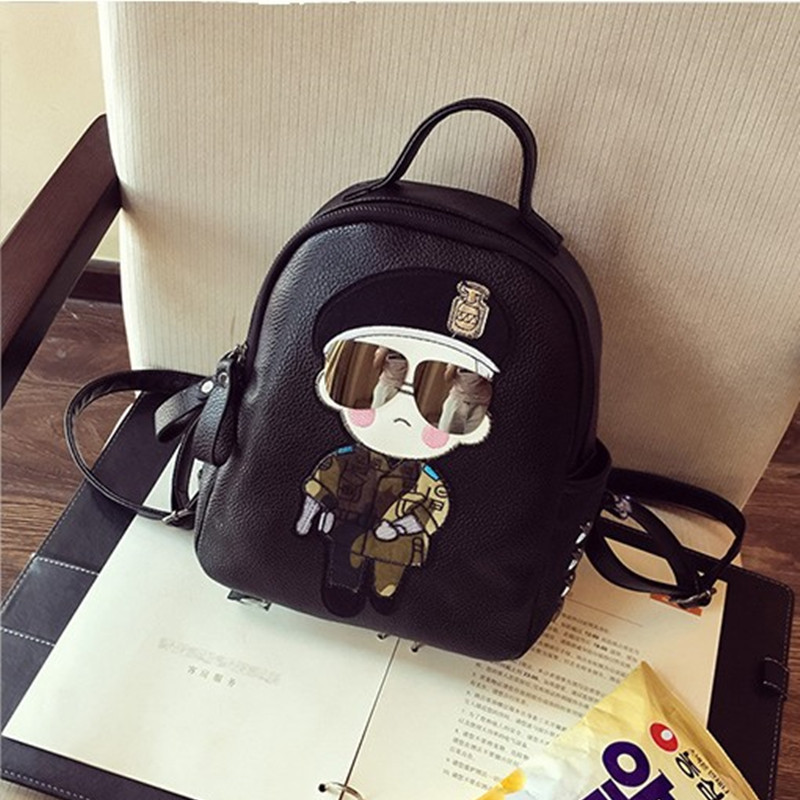 Descendants Of The Sun Song Joong Ki Cartoon Backpack 2018 Summer New Style College Style WOMEN'S Bag Korean-style Fashion Backp