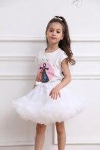 Детская однотонная пушистая юбка-пачка, детская балетная юбка для девочек, Юбки принцессы, вечерние левое вечернее танцевальное платье для ...