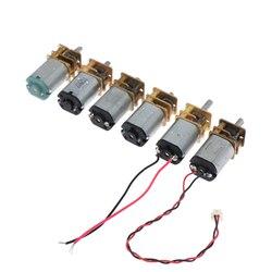 Микро-редуктор N20, 5 в постоянного тока, медленная скорость, металлический редуктор, Электрический мотор, игрушка «сделай сам», 40/60/28/150/300/110 об...