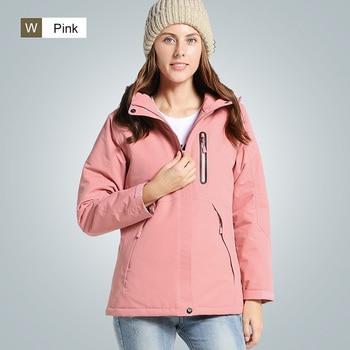 Windproof Heating jacket Waterproof Reflective Hiking Camping Cycling Riding