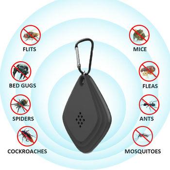 Przenośny USB odstraszacz komarów ultradźwiękowy elektroniczny karaluch pająk zabójca Pest Insect Fly Rat gryzonie wąż odstraszający lato tanie i dobre opinie Muchy Komary Węże Ultrasonic Pest Repellers Brak 15 ~ 95KHz 10-70 square meter 13KHz ~ 95KHz white black 1 8MA 100mAh