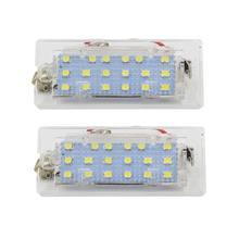 Комплект из 2 предметов, белые светодиодные с CANbus номерной знак светильник лампа 18 SMD 3528 для BMW E53 X5 1999-2003 E83 X3 03-10 X6HF