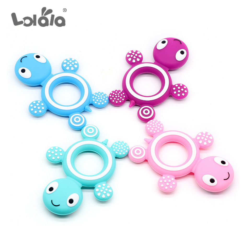 10PC Baby Silicone  Gel Toothpaste Animal Big Turtle Shape Food Grade Silica Gel No BPA Baby Molar Toy Gift
