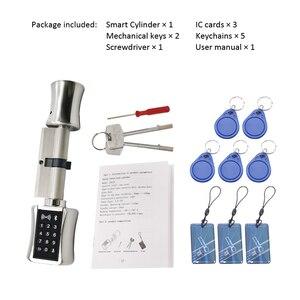 Image 5 - Cerradura de cilindro inteligente Bluetooth, cerradura electrónica sin llave, bloqueo de tarjeta RFID de código Digital para casa, apartamento, Airbnb
