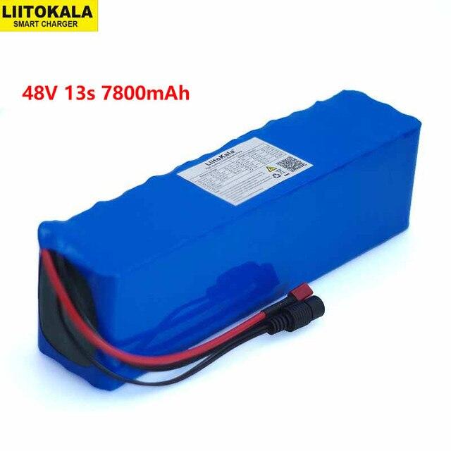 Liitokala 48v 7.8ah 13s3p alta potência 7800mah 18650 bateria veículo elétrico da motocicleta diy bateria bms proteção