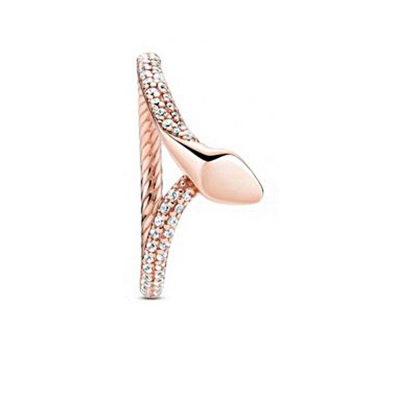 Bague en argent Sterling 925 pour femmes, bague serpent scintillante, bijoux d'anniversaire de fiançailles, Original, cadeau, nouvelle collection d'automne 2020 2