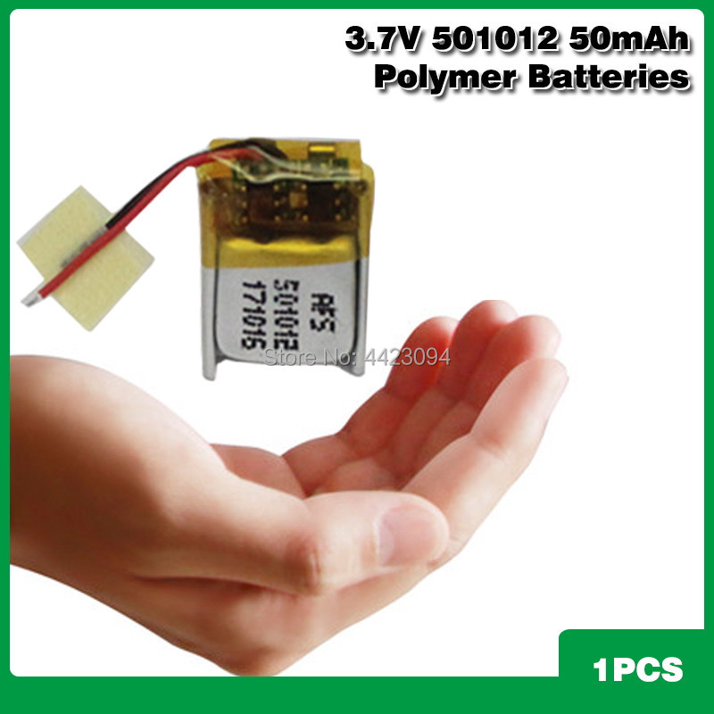 <font><b>3.7V</b></font> <font><b>50mah</b></font> 501012 lithium polymer lipo rechargeable <font><b>battery</b></font> for i7s/i8/i9/i12TWS bluetooth headset MP3 MP4 speaker Smart wear image