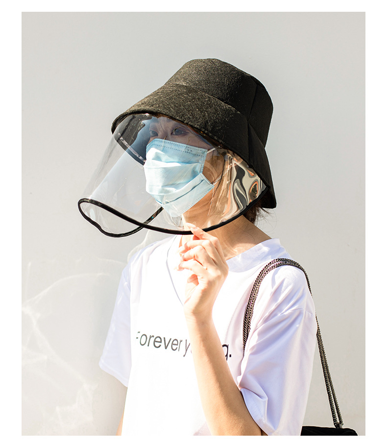 29/5000  Protective Helmet Mask Isolates Virus Mask Fisherman's Hat Covers Face To Prevent Water Droplets And Protect Eyes