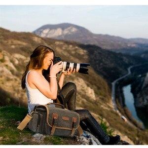 Image 5 - Sling slr fotografia digital bolsa de ombro homem/mulher ao ar livre travelwaterproof náilon câmera mensageiro bolsa para lente da câmera