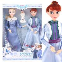 Disney Anime Frozen 2 Elsa Anna Toys 30cm Frozen 11 joint Movable Figure Olaf Dolls Birthday Gifts Toys for Children Girl